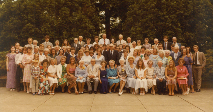 Seiberling Family reunion in 1980
