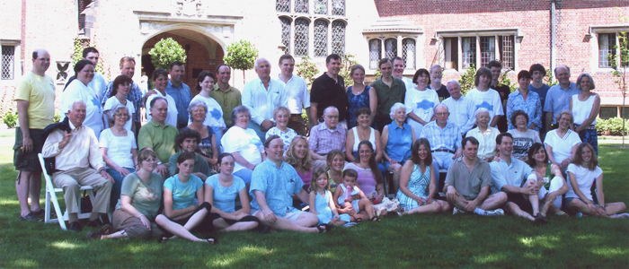 At a Seiberling family reunion at Stan Hywet Hall in 2005