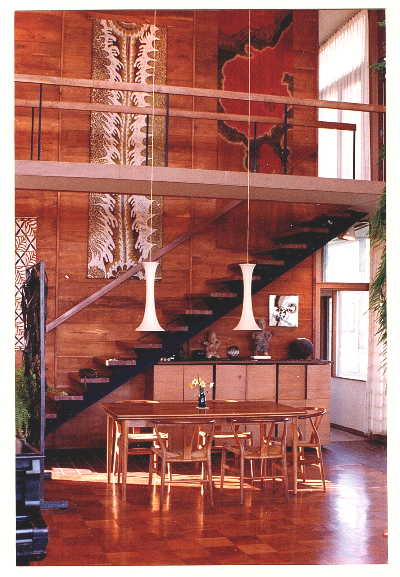dining area and stair