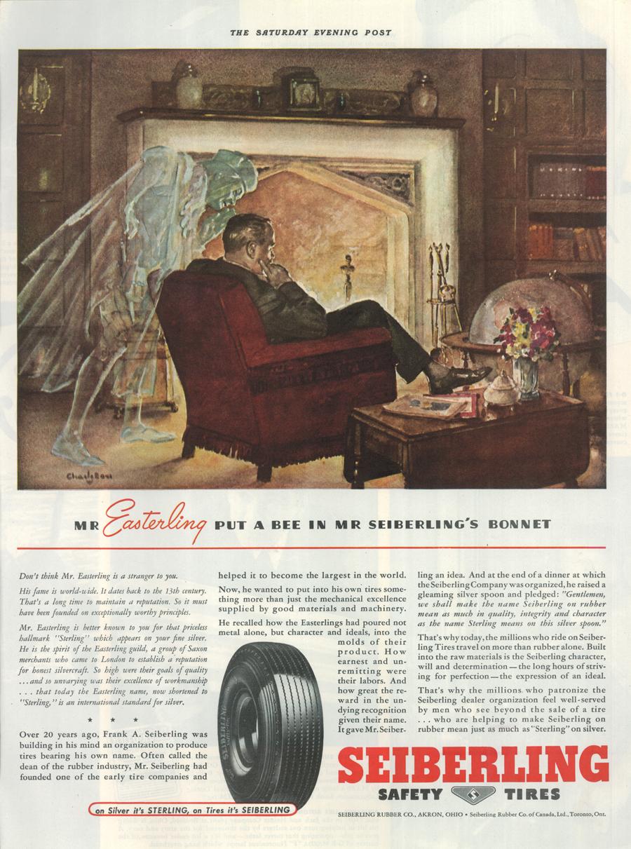 Seiberling Rubber Company ad