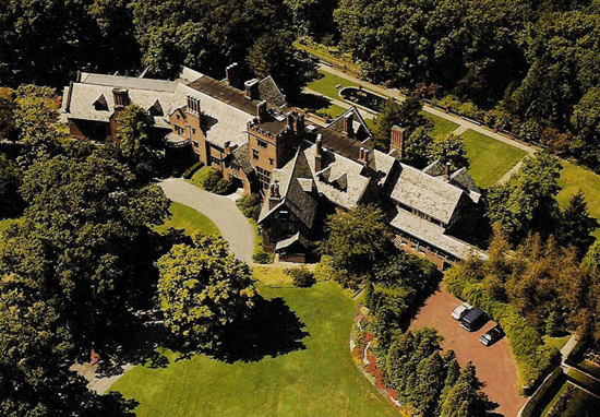 Stan Hywet Hall from the air