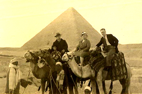 F.A. and Gertrude in Egypt