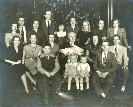 F.A. and 19 grandchildren—1946