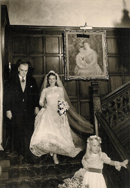 Milton Harrison with daughter Sally at her wedding